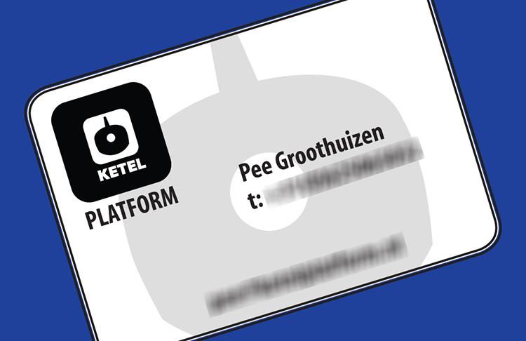 Visitekaartje Ketel Platform – Pee Groothuizen