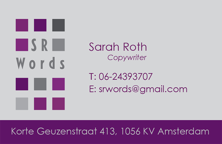 Visitekaartje Sarah Roth