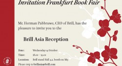 Uitnodiging Brill Azie receptie