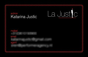 Visitekaartje Katarina Justic
