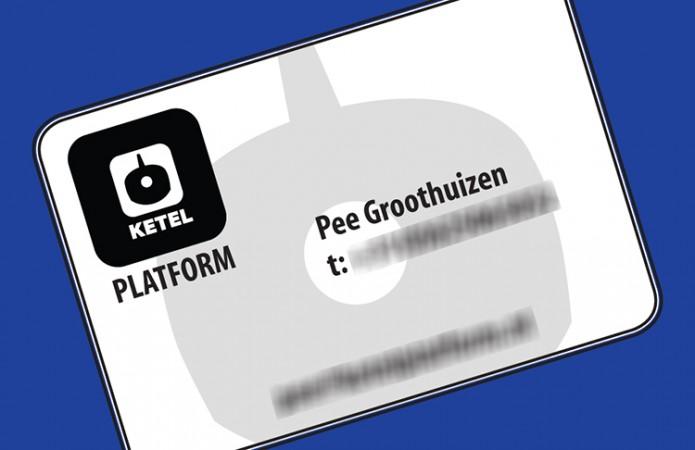 Visitekaartje Ketel Platform Pee Groothuizen
